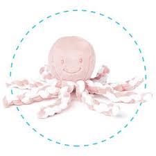 Nattou LAPIDOU octopus lichtroze-wit