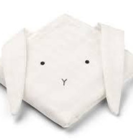Liewood Muslin cloth 2-pack Rabbit white