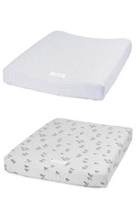 Liewood Coco changing mat cover 2-pack panda/dumbo grey