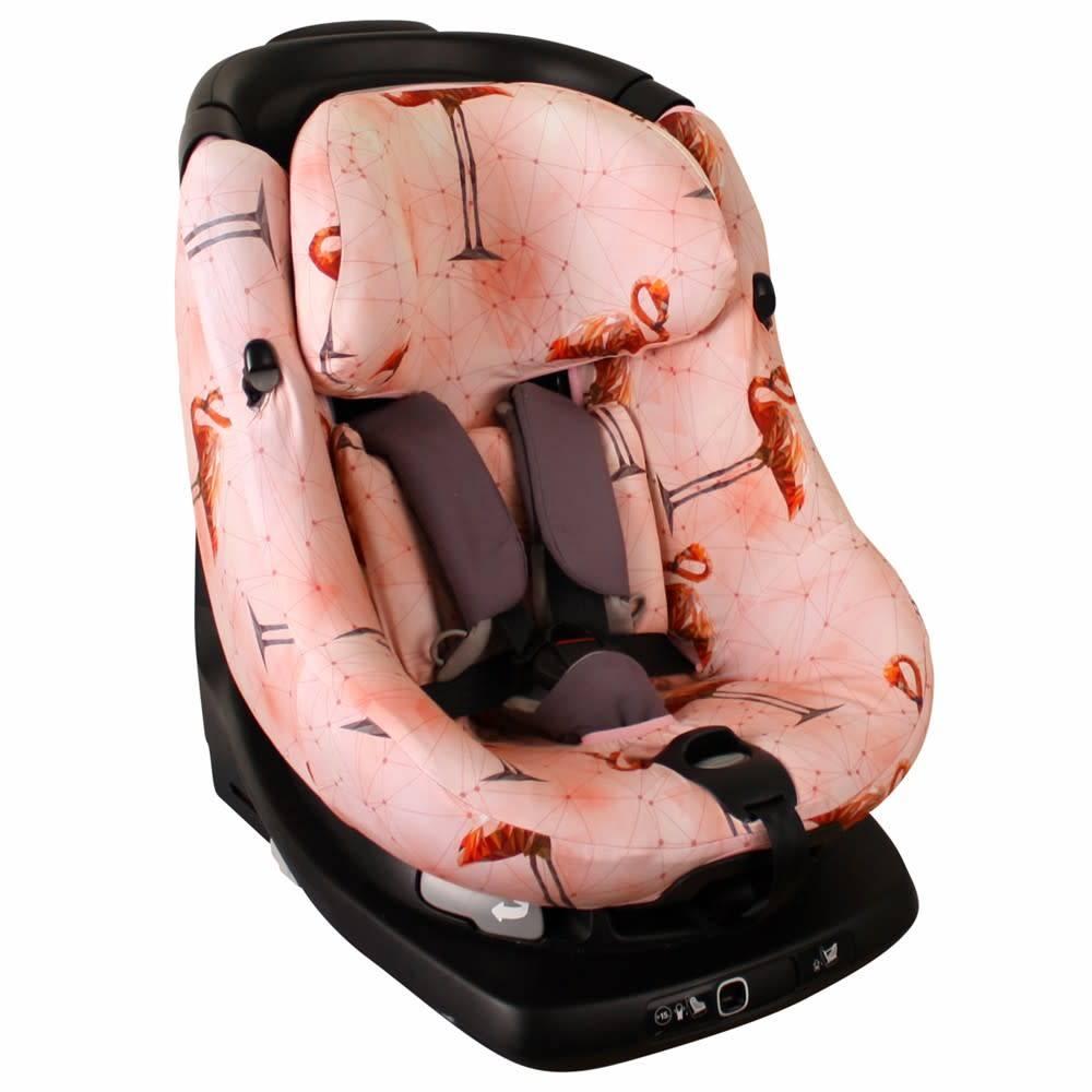 Ukje Hoes maxi cosi axissfix flamingo