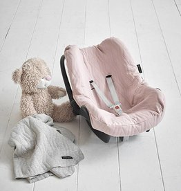 House Of Jamie Car seat Cover Geo Jacq - powder pink
