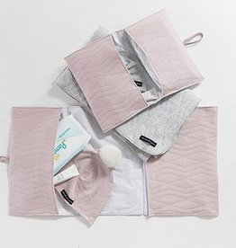 House Of Jamie Nappy pouch Geo Jacq - Powder pink