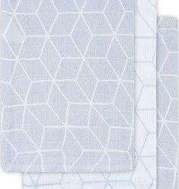 Jollein Hydrofiel washandje Graphic grey (3pack)