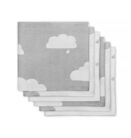 Jollein Hydrofiel luier Clouds grey (6pack)