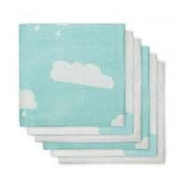 Jollein Hydrofiel luier Clouds jade (6pack)