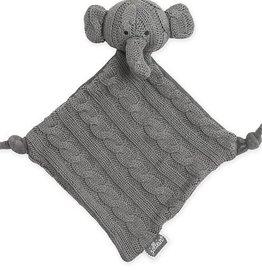 Jollein Knuffeldoekje Cable elephant grijs