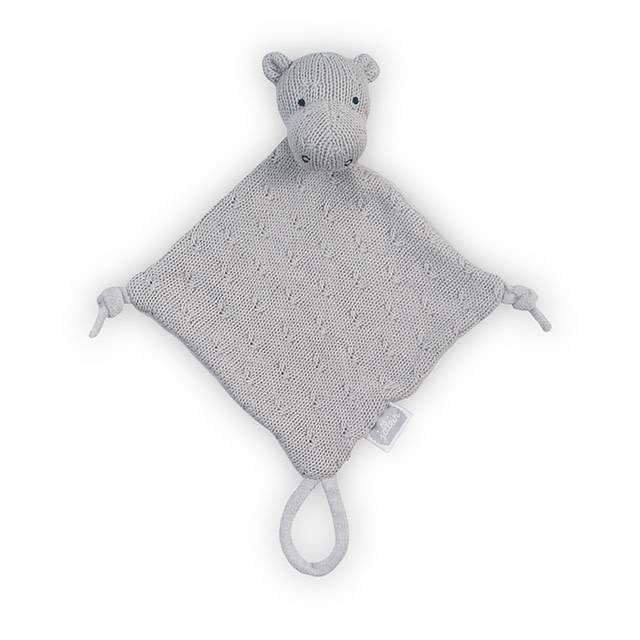 Jollein Knuffeldoekje Soft knit hippo light grey