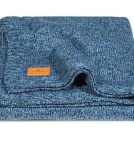 Jollein Deken 75x100cm Stonewashed knit navy