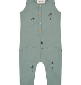 Little Indians Jumpsuit Palmtrees Soft green