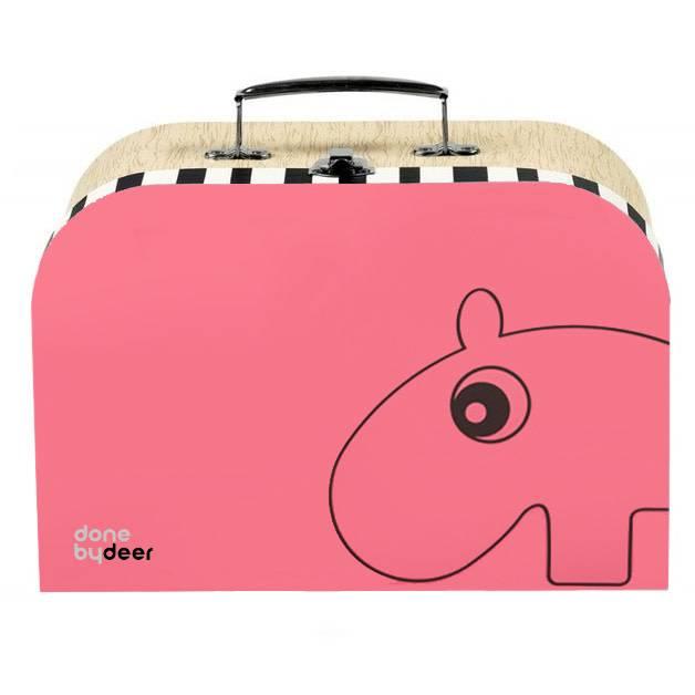 hoorens Suitcase Set, 2 pcs., raspberry/powder