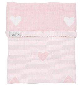 koeka Deken Haerts 75x100cm water pink/white
