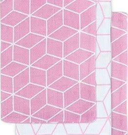 Jollein Hydrofiel washandje Graphic mauve (3pack)