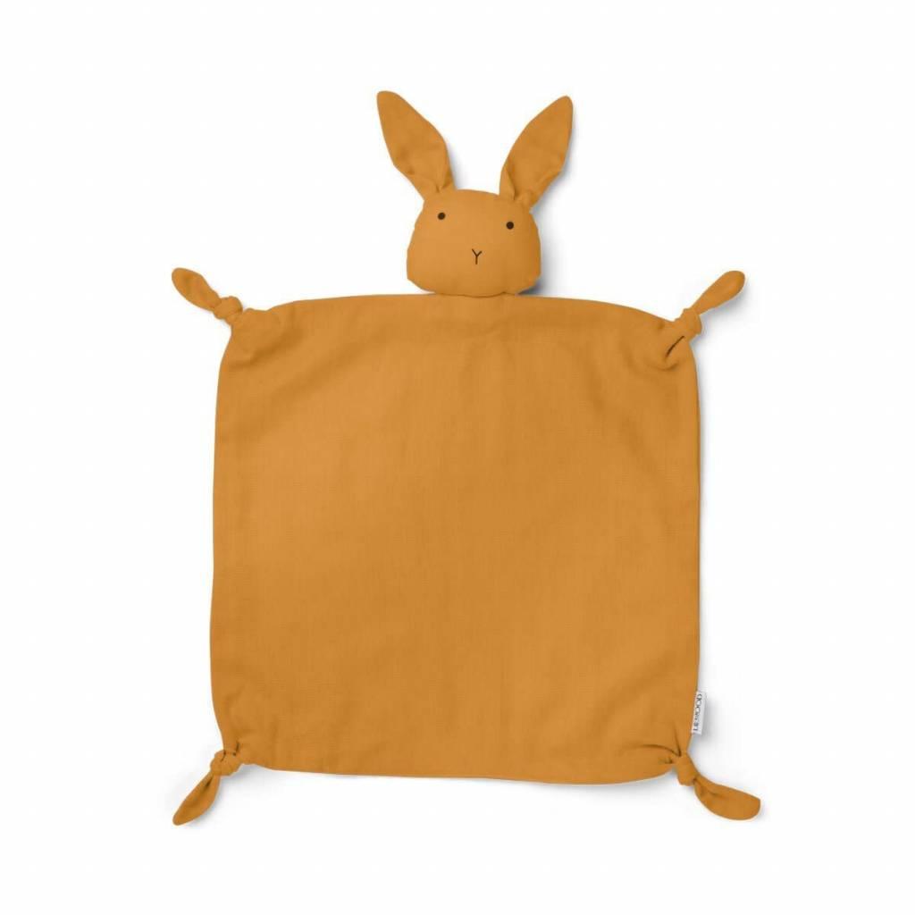 Liewood Agnete knuffeldoek Rabbit Mustard