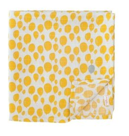 trixie baby tetra doeken 100 x 100 balloon yellow