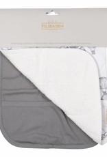 Filibabba 2 pack bibs grey/solid grey