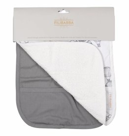 Filibabba 2 pack bibs grey/solid grey