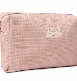 Nobodinoz Diva waterproof vanity case Misty pink