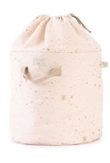 Nobodinoz Bamboo toy bag large gold stella/dream pink