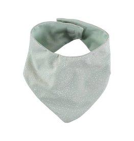 Nobodinoz lucky bandana bib white bubble/aqua