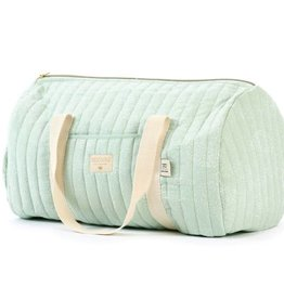 Nobodinoz New york weekendbag white bubble/aqua