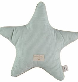 Nobodinoz Aristote star cushion 40 x 40 aqua