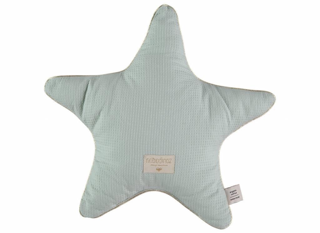 Nobodinoz Aristote star cushion 40 x 40 aqua