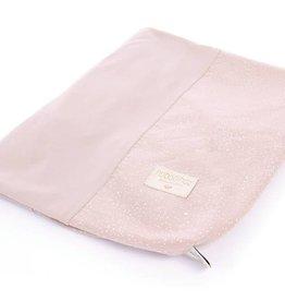 Nobodinoz waskussenhoes white bubble/misty pink