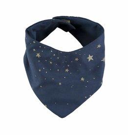 Nobodinoz lucky bandana bib gold stella/night blue