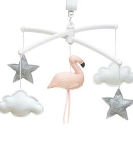 Pouce et Lina Mobiel Flamingo koraal