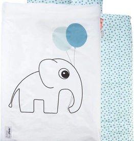Done by Deer Junior bedlinen, Dots, blue 140 x 100