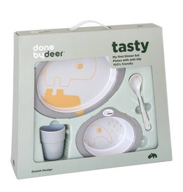 Done by Deer tasty dinner set gold/grey