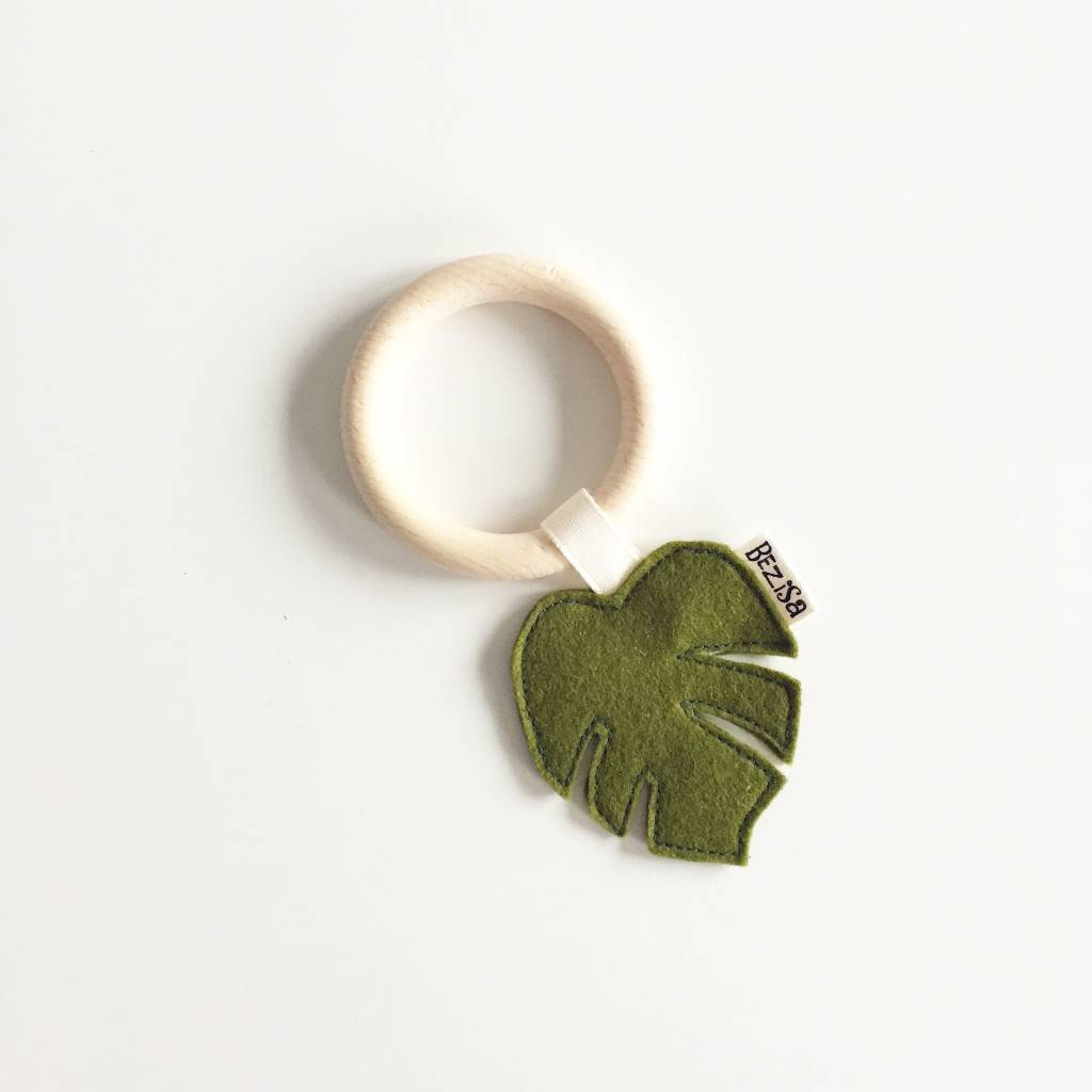 Bezisa Bijtring Moss Green Leaf