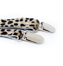 Chewies & more Fopspeenketting Cheetah clip beige