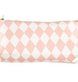 Nobodinoz Pencil case 24x12x7 pink diamonds