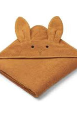 Liewood Augusta Hooded towel Rabbit mustard