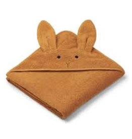 Liewood Augusta Hooded towel Rabbit mustard