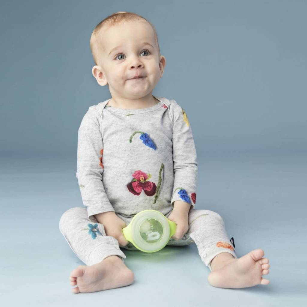 Snurk Knitted Flowers Jumpsuit Babies