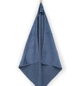 Jollein Badcape XL 100x100cm velvet terry Sweet bunny vintage blue