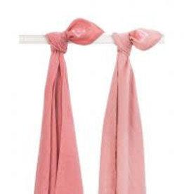 Jollein Set van 2 swaddles Duo coral pink
