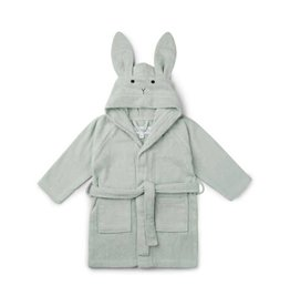 Liewood badjas 5/6 jaar rabbit dusty mint