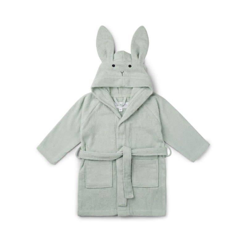 Liewood badjas 5/6 jaar rabbit dusty mint