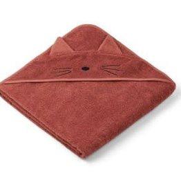 Liewood Cat rusty hooded towel