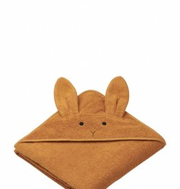 Liewood Rabbit mustard hooded towel