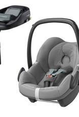 maxi cosi Maxi cosi Pebble concrete grey met familyfix basis