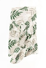 clementine jungle fern swaddle