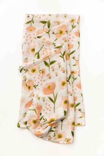 clementine BLUSH BLOOM SWADDLE