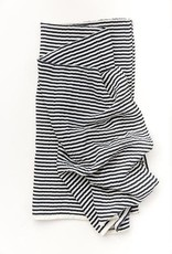 clementine BLACK AND WHITE STRIPE SWADDLE