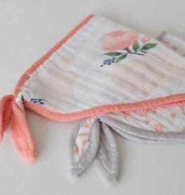 Little Unicorn Cotton muslin bandana bib 2 pack Watercolor roses