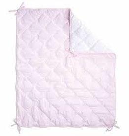 First Parkligger roos doorstikt fluweel Pretty pink 75 x 95
