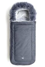 First Denim voetenzak met afneembare eco pels Blue Edition